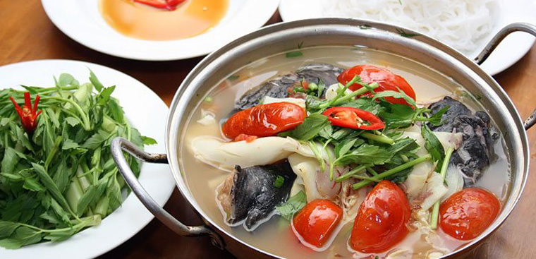 lẩu cá lăng măng chua